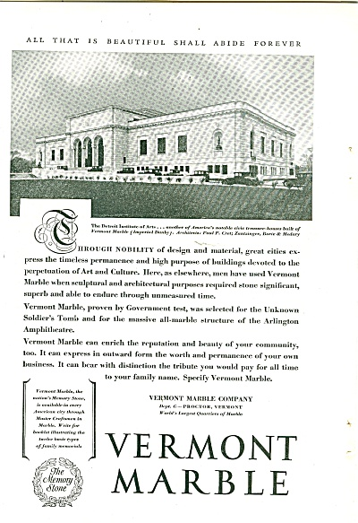 Vermont Marble ad 1929 (Image1)