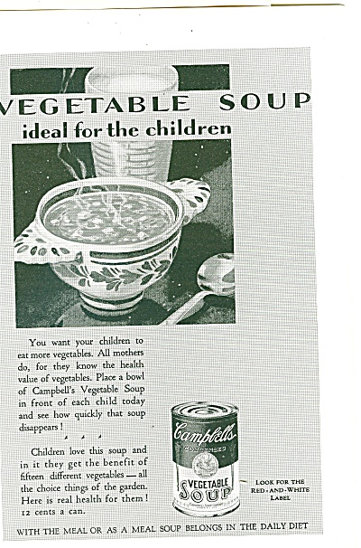 Campbell's vegetable soup ad 1929 (Image1)