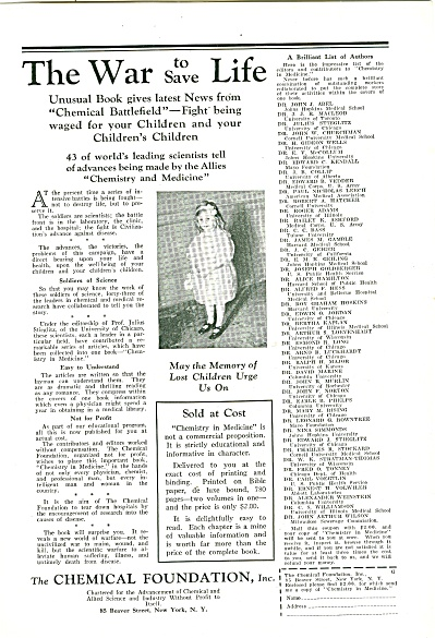 The Chemical foundation, Inc. ad 1929 (Image1)