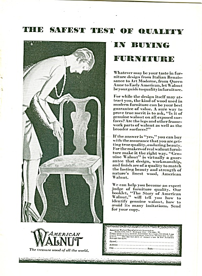 American Walnut furniture ad 1929 (Image1)