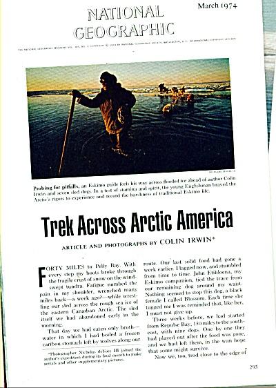 Story:  TREK ACROSS ARCTIC AMERICAN  -1974 (Image1)