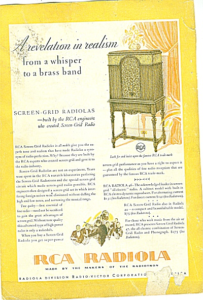 RCA Radiola ad 1929 (Image1)