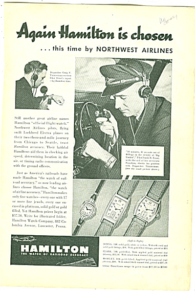 Hamilton watches ad 1957 (Image1)