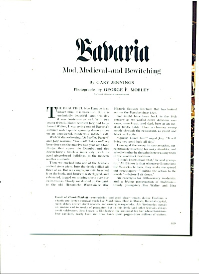 Story:  BAVARIA  by Gary Jennings  1974 (Image1)