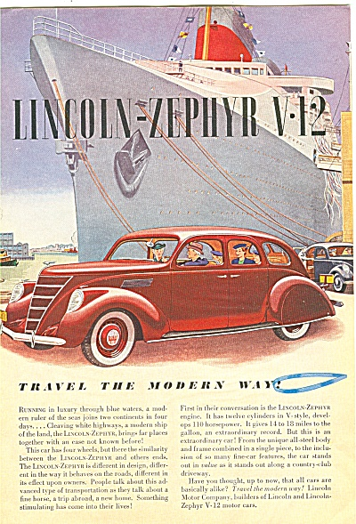 Lincoln-Zephyr V-12 auto ad 1957 (Image1)