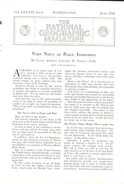 Your Navy as Peace Insurance story - 1946 (Image1)
