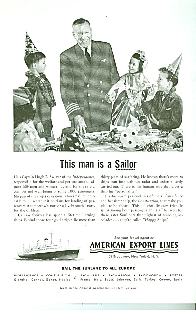 American Export Lines Ad 1955