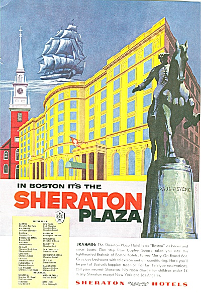 Sheraton Plaza hotel in Boston ad 1955 (Image1)