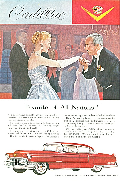 Cadillac Automobile For 1955 Ad