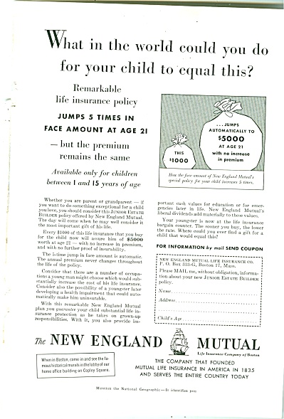 The New England Mutual ad 1955 (Image1)