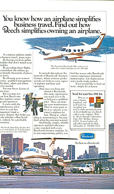 Beechcraft airplanes ad 1981 (Image1)