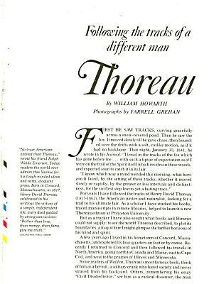 HENRY DAVID THOREAU  - 1981 (Image1)