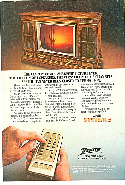 Zenith television ad 1981 (Image1)