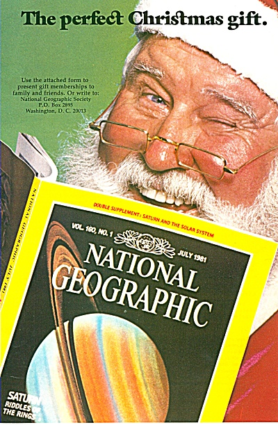 National Geographic Magazine Ad 1981
