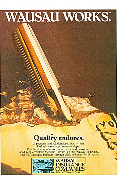 Wausau Insurance Companies ad 1981 (Image1)
