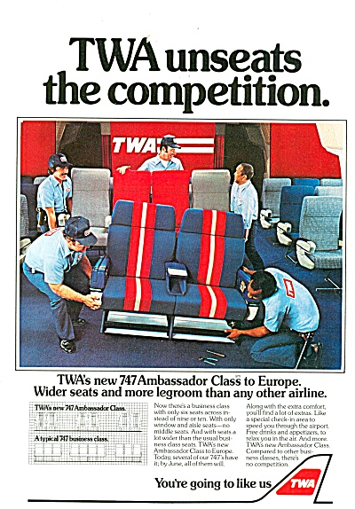 Twa Airlines Ad 1981