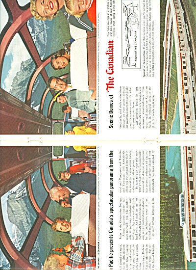 Canadian Pacific Rail Lines Ad 1956