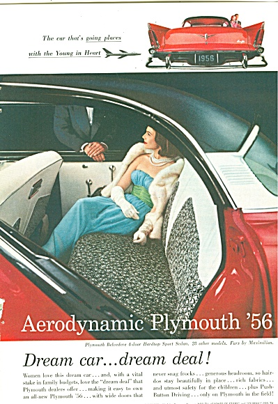 Plymouth automobile 1956 ad (Image1)