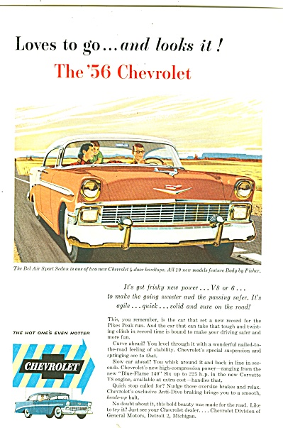 Chevrolet For 1956 Ad