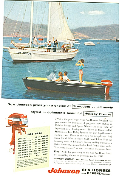 Johnson sea horse motors ad 1956 (Image1)