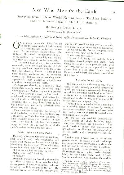 Men Who Measure the Earth story - 1956 (Image1)