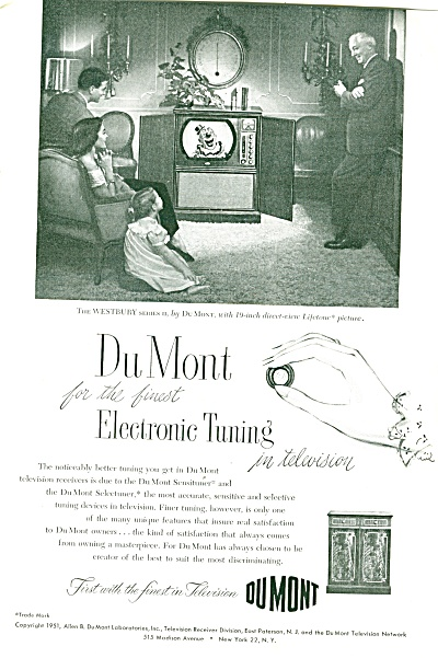 DuMont television ad  - 1951 (Image1)