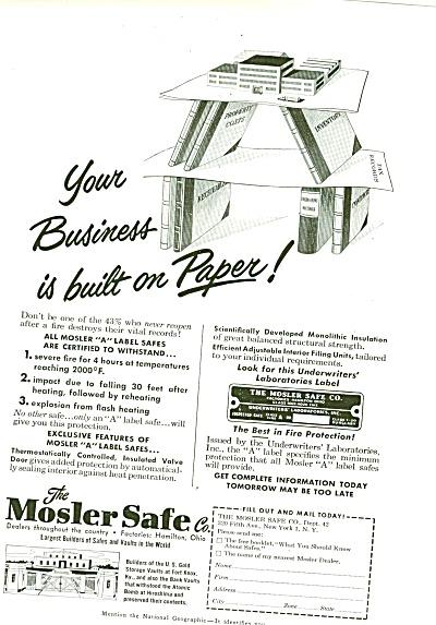 Mosler Safe Co., Ad 1951 (Image1)