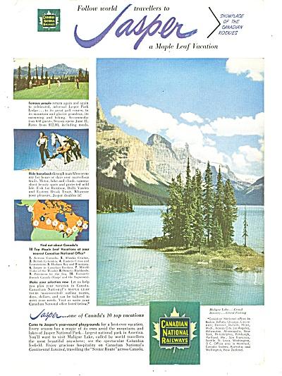 Canadian National Railways - Jasper ad 1951 (Image1)