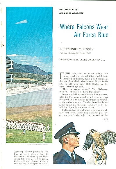 Where FALCONS wear AIR FORCE BLUE  1959 (Image1)