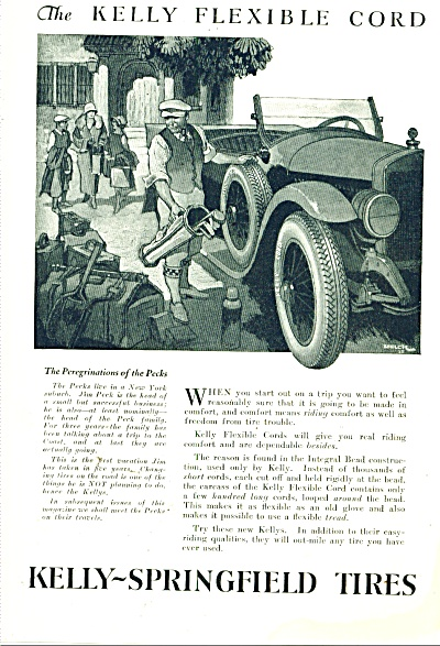 Kelly-springfield Tires Ad 1925