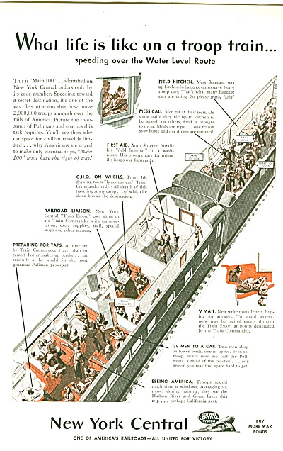 New York Central Ad 1943