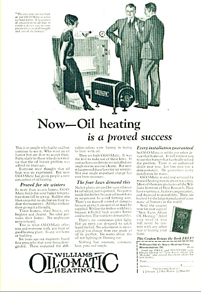 William Oil-o-matic heating ad 1925 (Image1)