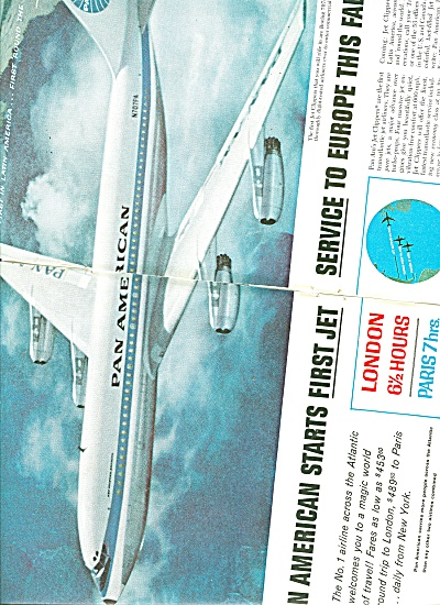 Pan American airlines ad 1958 (Image1)