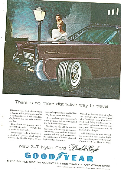 1958 Goodyear Tires Ad 1958