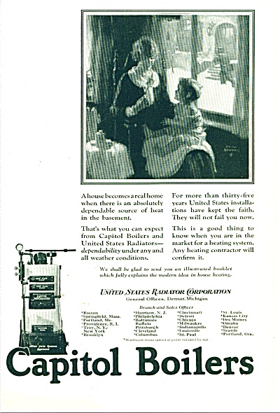 Capitol Boilers ad - 1925 (Image1)