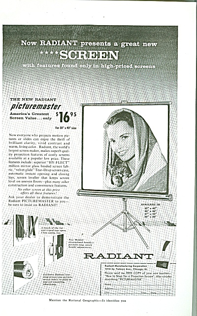 Radiant picture screen ad 1956 (Image1)