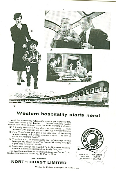 North Coast Limited ad 1957 (Image1)