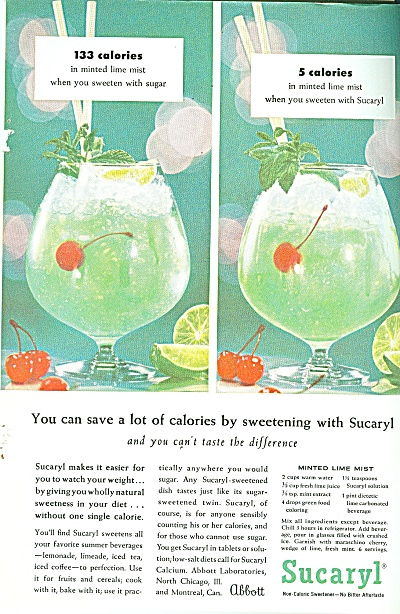 Sucaryl ad - 1957 (Image1)
