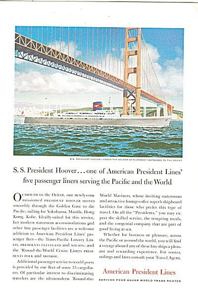 American President Lines Ad 1957