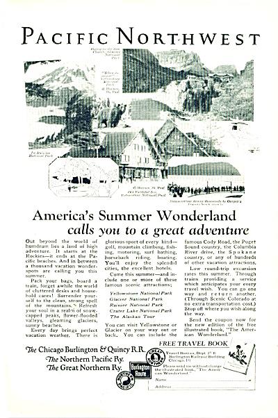 The Chicago burlington & Quincy RR ad 1925 (Image1)