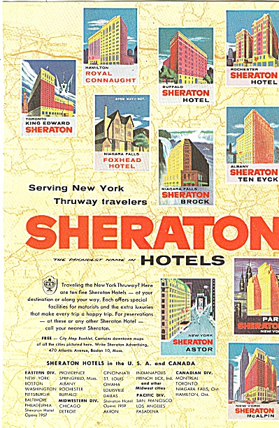 Sheraton hotels ad 1956 (Image1)