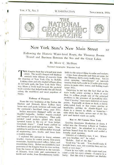 New Y0rk States' New Main Street 1956