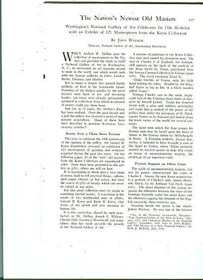 The Nation's Newest Old Masters story 1956 (Image1)