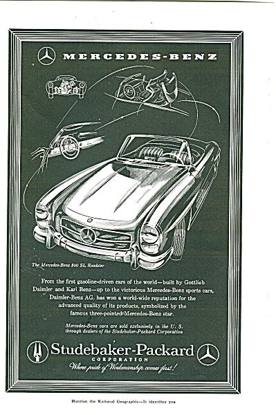 studebaker-Packard -  Mercedes Benz ad 1957 (Image1)