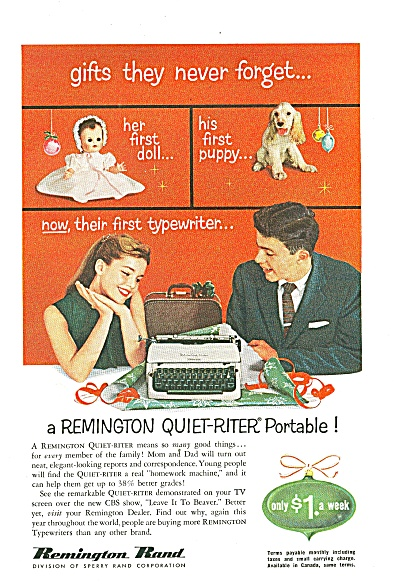 Remington Rand typewriter ad (Image1)