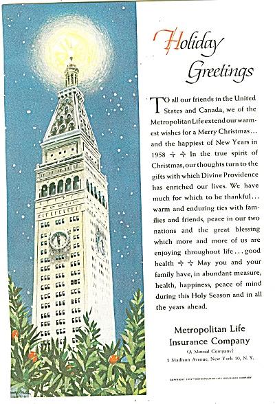 Metropolitan Life Insurance Company ad 1957 (Image1)