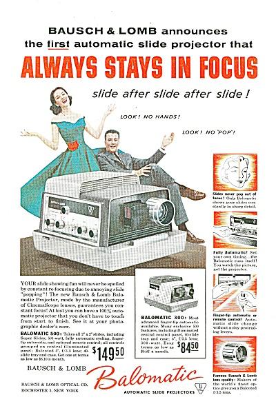 Balomatic Automatic slide projectors ad 1957 (Image1)
