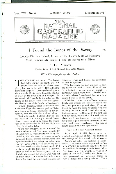 I found the Bones of the BOUNTY  story -1957 (Image1)