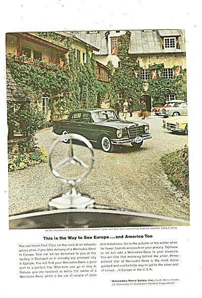 Mercedes Benz auto ad 1961 (Image1)