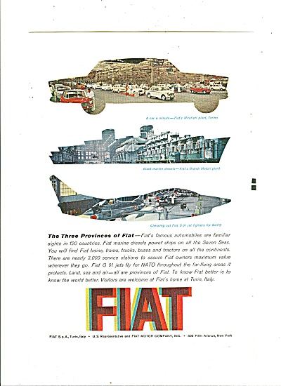 Fiat Automobile Ad 1961